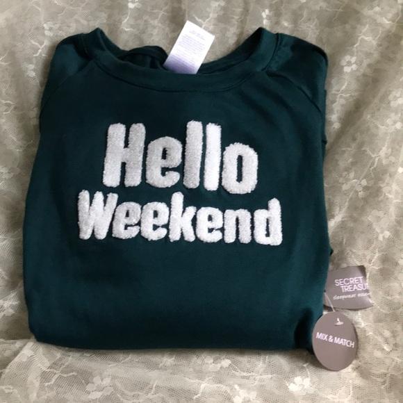 Hello Weekend, top/sleepwear